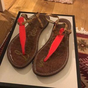 Sam Edelman Neon Pink Sandals